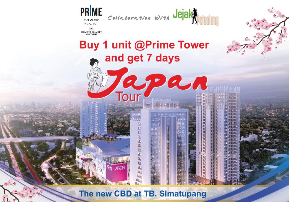 Beli Unit PRIME Tower Sekarang, GRATIS Tur SPESIAL ke Jepang!
