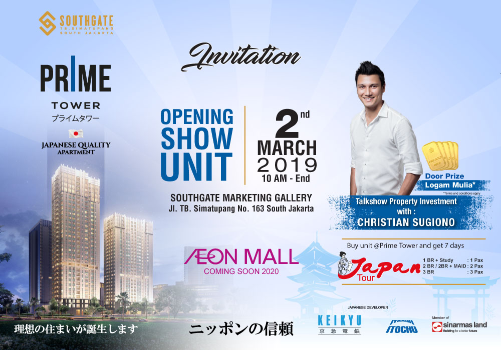 Opening Show Unit Southgate PRIME Tower Sekaligus Talkshow Property Investment Bersama Christian Sugiono