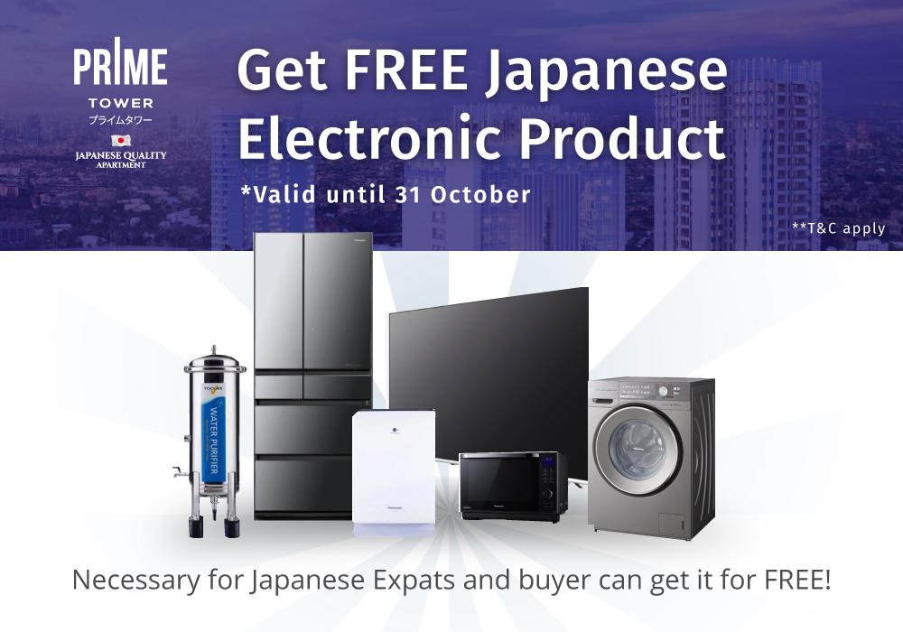 GRATIS Produk Japan Elektronik Setiap Pembelian PRIME Tower
