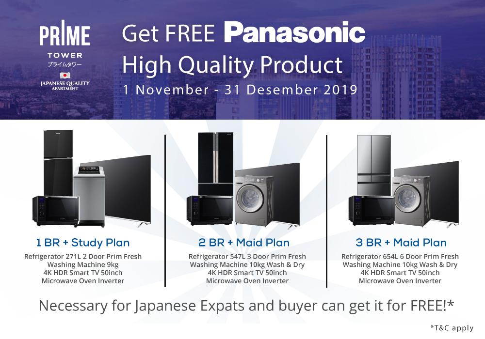 Promo Akhir Tahun – GRATIS Produk Panasonic Setiap Pembelian PRIME Tower